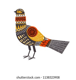 Bird in mid-century, Scandinavian design. Eps10 vector