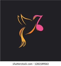 bird music logo design