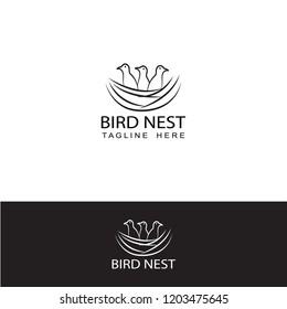 bird nest logo template design