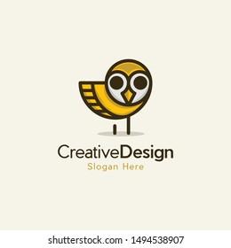 Bird Owl Cute Illustration Creative Vector Logo