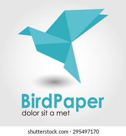 Bird paper logo element innovative and creative inspiration for business company.