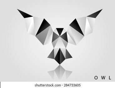 bird polygon owl