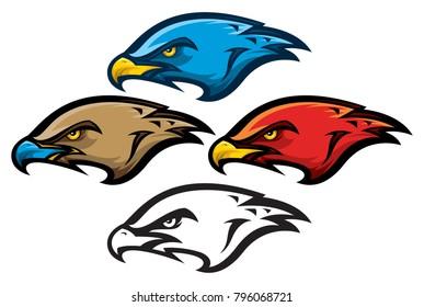 Bird of Prey Mascot Head