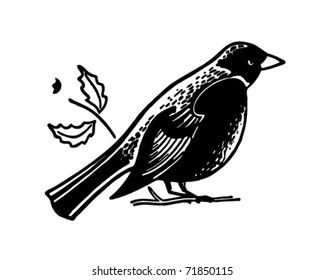 Bird - Retro Ad Art Banner