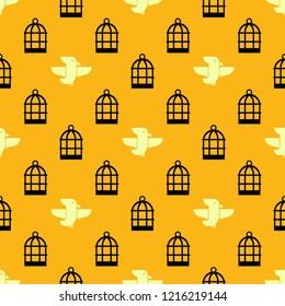 Bird seamless pattern background,Bird vector illustration.