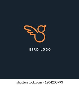 swallow logo images stock photos vectors shutterstock https www shutterstock com image vector bird silhouette logo vector abstract minimalistic 1204200793