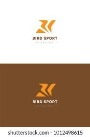 Bird sport logo template.