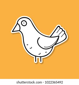 bird sticker vector - bird