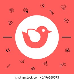 Bird symbol icon. Graphic elements for your design