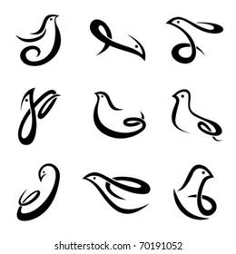 bird symbol vector