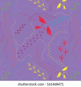 Bird trail pattern