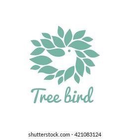Bird vector icon.