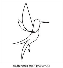 Bird vector logo from one lines arts. For icon, logo, and etc.