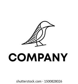 BIRD VECTOR LOGO TEMPLATE ANIMAL MASCOT