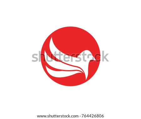 bird wing logo design template stock vector royalty free 764426806
