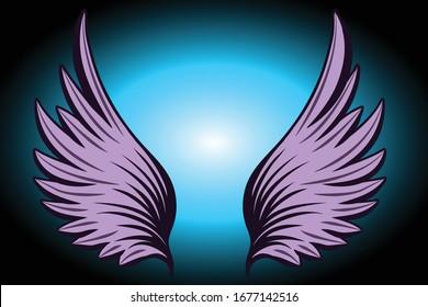 Bird wing vector design illustration
