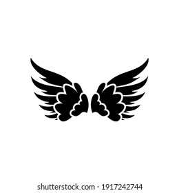 Bird wings vector icon. Angel wings vector icon.