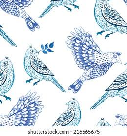 bird, winter, pattern