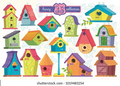 Birdhouse group.Set the birdhouse.