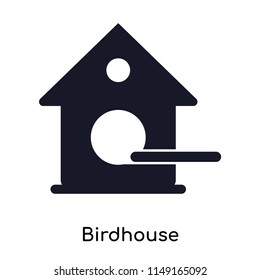 Birdhouse icon vector isolated on white background for your web and mobile app design, Birdhouse logo concept