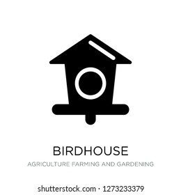birdhouse icon vector on white background, birdhouse trendy filled icons from Agriculture farming and gardening collection, birdhouse simple element illustration
