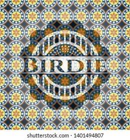 Birdie arabesque emblem. arabic decoration.