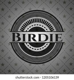 Birdie realistic dark emblem