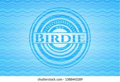 Birdie water wave representation badge. Vector Illustration. Detailed.