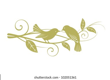Birds couple friendship