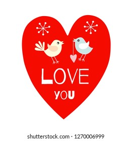 Birds and heart. Love you. Just for you