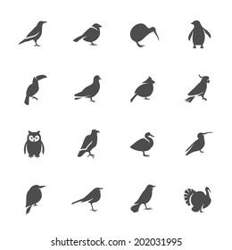 Birds icon set