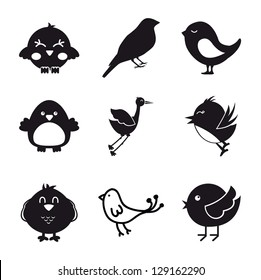 birds icons over white background. vector illustration