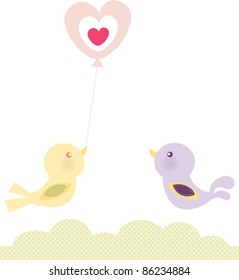 Birds Love Balloon
