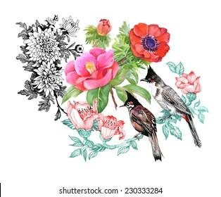 White bird of paradise flower