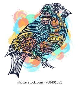 Birds tattoo and t-shirt design