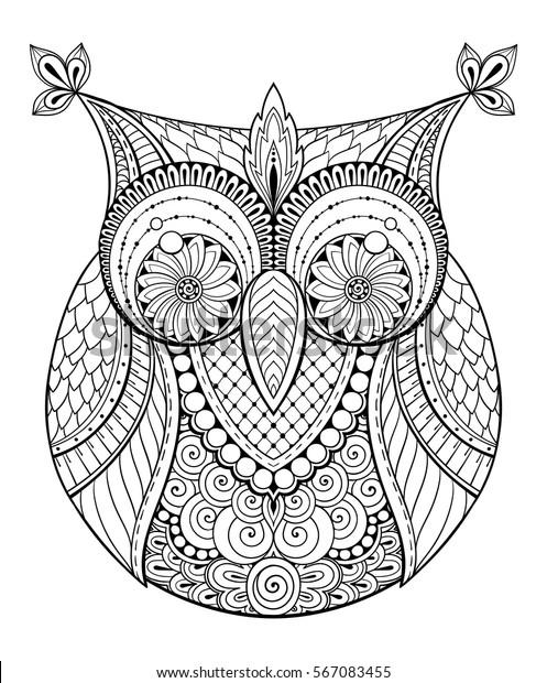 Image Vectorielle De Stock De Le Theme Des Oiseaux Mandala Noir