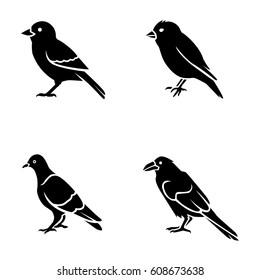 Birds vector icons