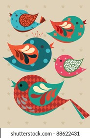 birds vector/illustration
