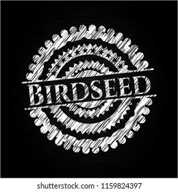 Birdseed chalk emblem