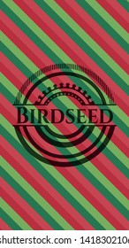 Birdseed christmas colors emblem. Vector Illustration. Detailed.