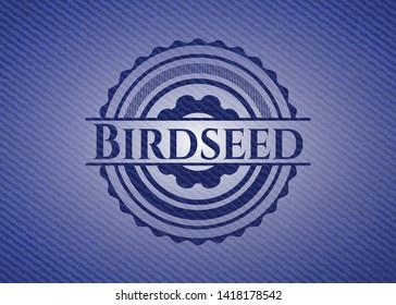 Birdseed with denim texture. Vector Illustration. Detailed.