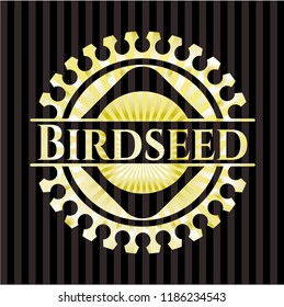 Birdseed gold badge or emblem