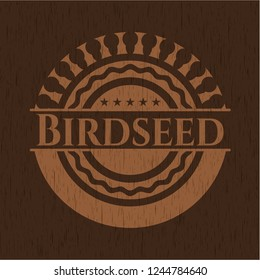 Birdseed wood icon or emblem