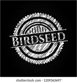 Birdseed written with chalkboard texture