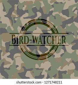 Bird-watcher camouflage emblem
