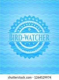 Bird-watcher water wave style badge.