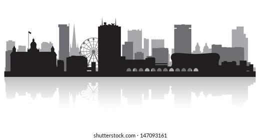 Birmingham city skyline silhouette vector illustration