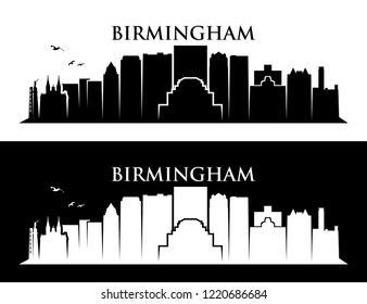 Birmingham skyline - Alabama, United States of America, USA - vector illustration