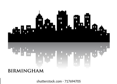birmingham skyline city logo vector