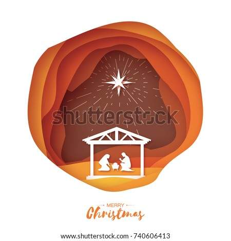 birth christ baby jesus manger holy stock vector royalty free